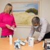 Fundación Hilfe entregó 10 termómetros digitales a los Hospitales de Madariaga y Pinamar